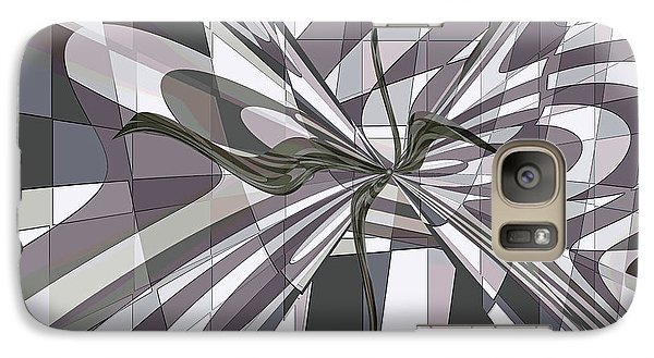 Galaxy Case featuring the digital art Shades Of Gray by Ginny Schmidt