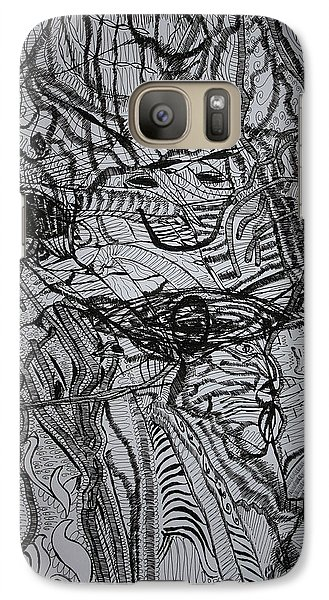 Galaxy Case featuring the drawing Shango by Gloria Ssali