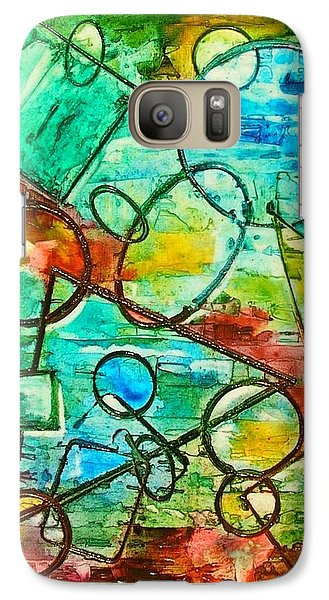Galaxy Case featuring the painting Shapes by Mary Kay Holladay