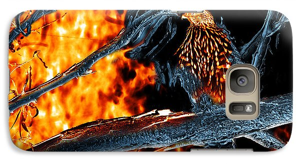 Galaxy Case featuring the photograph Sharp Shinned Hawk 0112 Fire And Ice Art by James Ahn