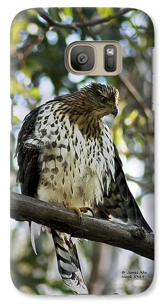 Galaxy Case featuring the photograph Sharp Shinned Hawk - Winged Stare -5459 by James Ahn