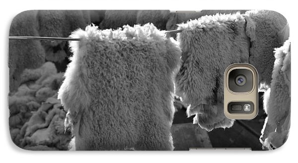 Galaxy Case featuring the photograph Sheepskin by Emanuel Tanjala