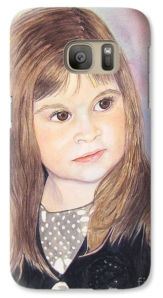 Galaxy Case featuring the painting Shelby by Carol Flagg