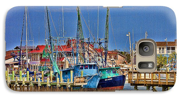 Shem Creek Shrimpers Galaxy S7 Case by Bill Barber