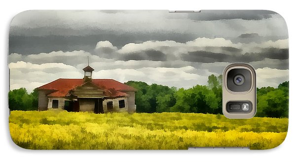 Galaxy Case featuring the painting Shiloh School by Lynne Jenkins