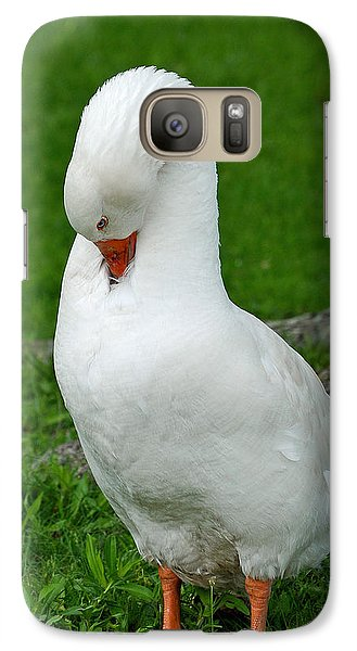 Galaxy Case featuring the photograph Shy Goose by Lisa Phillips