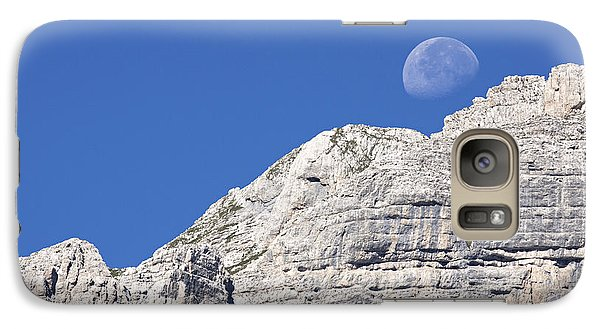 Galaxy Case featuring the photograph Shy Moon by Raffaella Lunelli