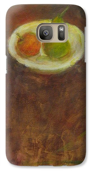 Galaxy Case featuring the painting Side By Side by Kathleen Grace
