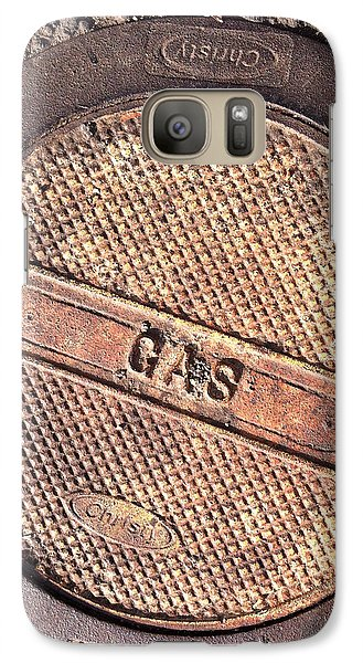 Galaxy Case featuring the photograph Sidewalk Gas Cover by Bill Owen