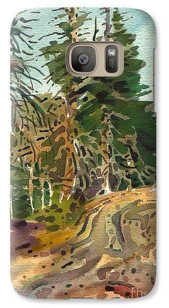 Galaxy Case featuring the painting Sierra Treeline by Donald Maier