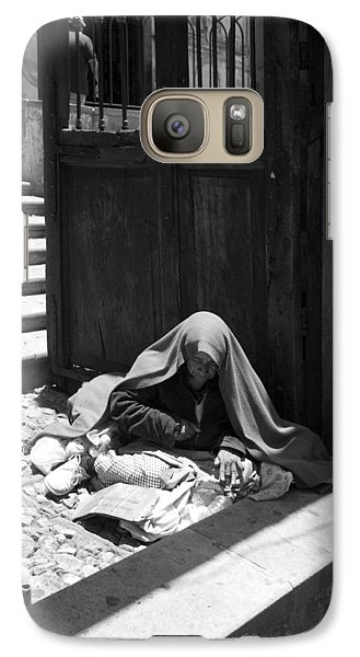 Galaxy Case featuring the photograph Silent Desperation by Lynn Palmer