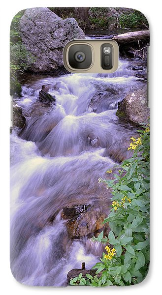 Galaxy Case featuring the photograph Silky Stream by Zawhaus Photography