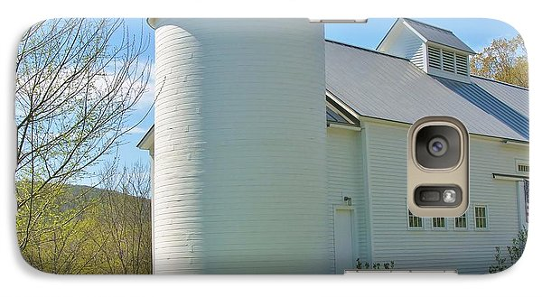 Galaxy Case featuring the photograph Vermont Silo And Barn  by Sherman Perry