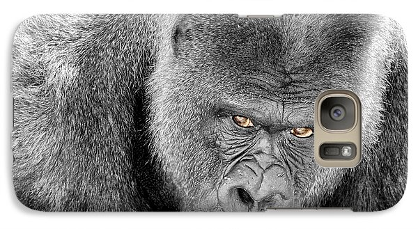 Galaxy Case featuring the photograph Silverback Staredown by Jason Politte