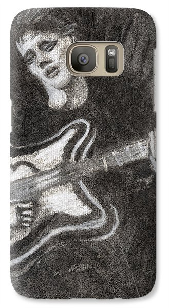 Galaxy Case featuring the drawing Singing Sad Songs by Denny Morreale
