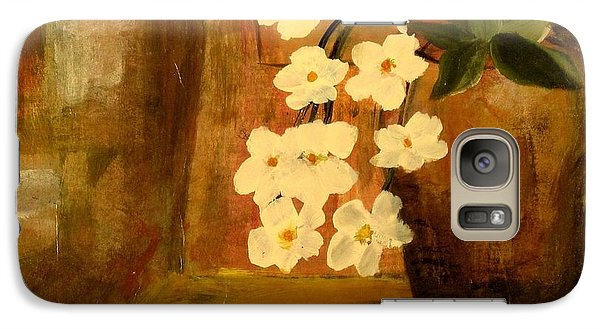 Galaxy Case featuring the painting Single Vase In Bloom by Kathy Sheeran