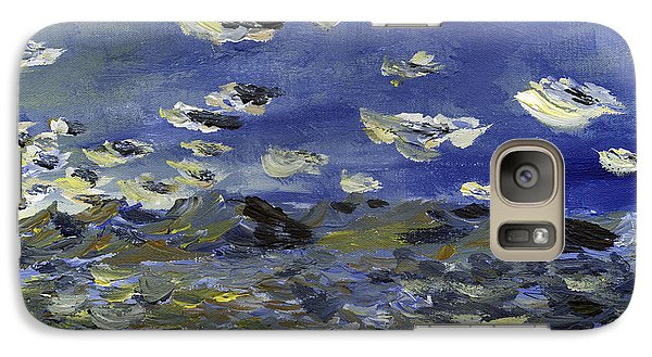 Galaxy Case featuring the painting Sitting In A Park In Burlington Looking At The Adirondacks by Denny Morreale