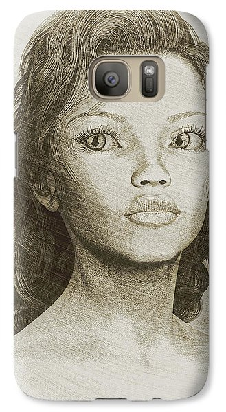 Galaxy Case featuring the digital art Sketched Portrait by Maynard Ellis