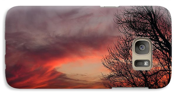 Galaxy Case featuring the photograph Sky On Fire by Art Whitton