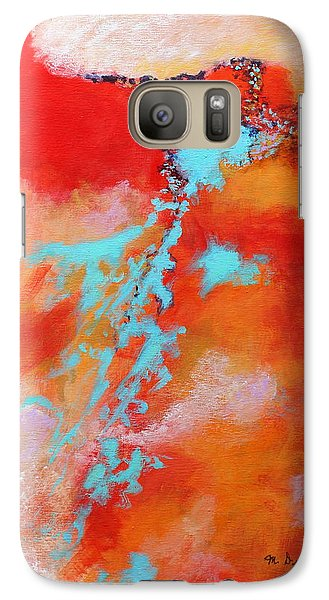 Galaxy Case featuring the painting Skyward 2 by M Diane Bonaparte