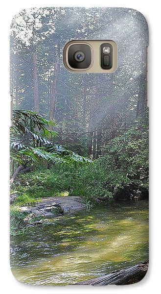 Galaxy Case featuring the photograph Slanting Sunlight On River by Kirsten Giving