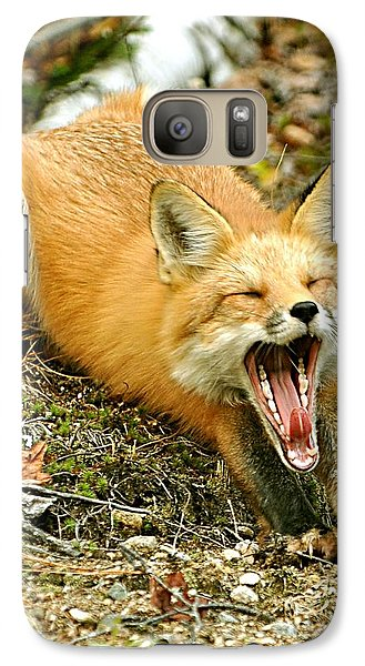 Galaxy Case featuring the photograph Sleepy Fox by Rick Frost