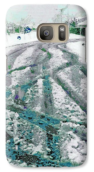 Galaxy Case featuring the photograph Slipping And Sliding  by Steve Taylor