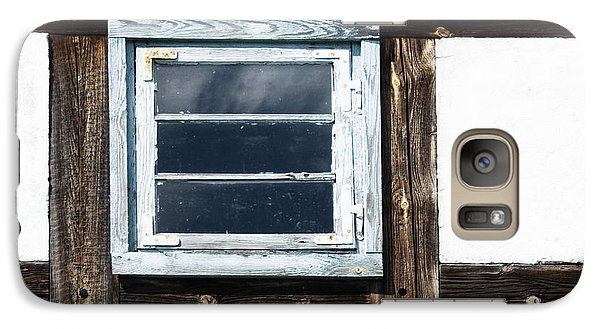 Galaxy Case featuring the photograph Small Blue Window by Agnieszka Kubica