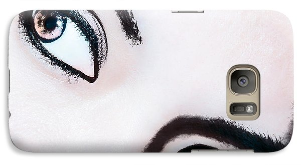 Galaxy Case featuring the digital art Smokey Eyes Of A Woman by Ester  Rogers