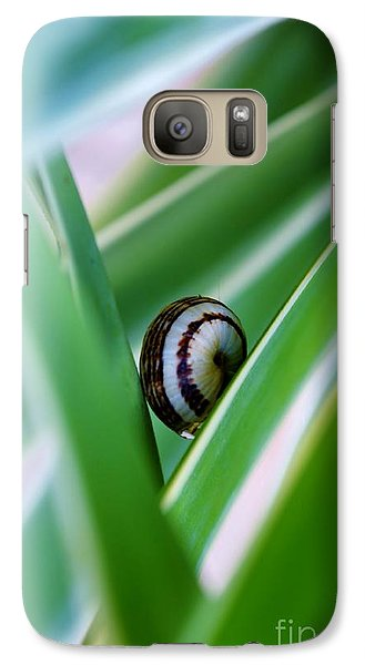 Galaxy Case featuring the photograph Snail On Yuca Leaf by Werner Lehmann
