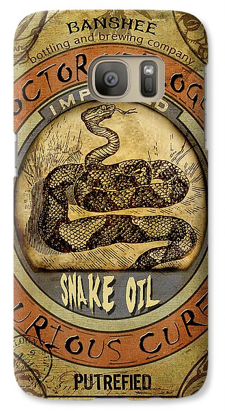 Galaxy Case featuring the digital art Snake Oil by Nada Meeks
