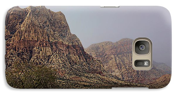 Galaxy Case featuring the photograph Snow Day In The Desert by Tammy Espino