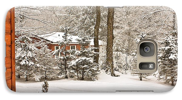 Galaxy Case featuring the photograph Snow In The Adirondacks by Ann Murphy