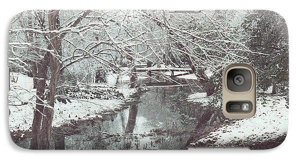 Galaxy Case featuring the photograph Snow On The Bayou by Louis Nugent