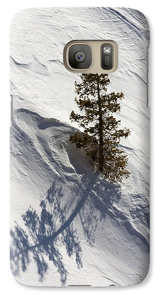 Galaxy Case featuring the photograph Snow Shadow by Karen Lee Ensley