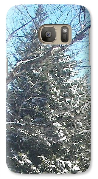 Galaxy Case featuring the photograph Snow Sprinkled Pine by Pamela Hyde Wilson