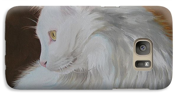 Galaxy Case featuring the painting Snowball by Jindra Noewi
