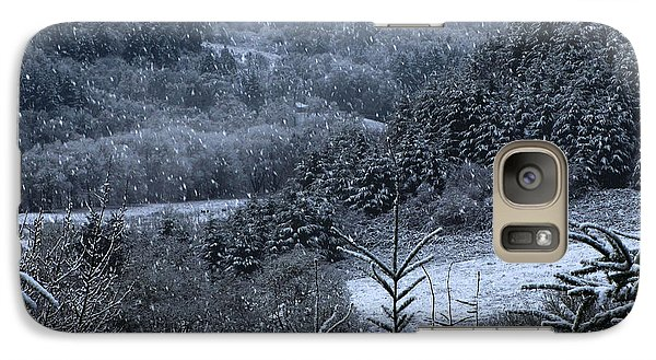 Galaxy Case featuring the photograph Snowfall by Katie Wing Vigil