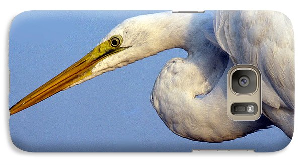 Galaxy Case featuring the photograph Snowy Egret Ready by Darleen Stry