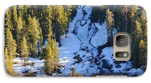 Galaxy Case featuring the photograph Snowy Heart Falls by Lynn Bauer