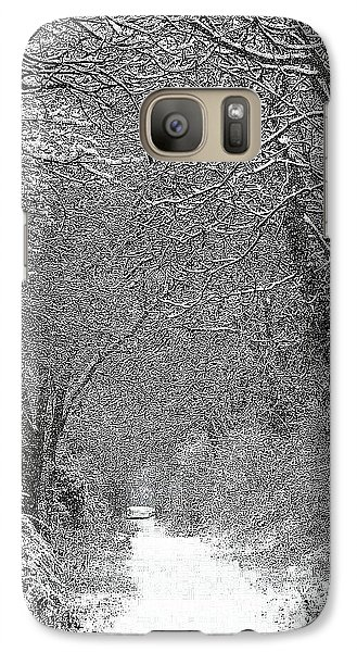 Galaxy Case featuring the photograph Snowy Path by Linsey Williams