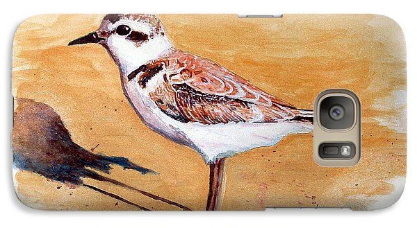 Galaxy Case featuring the painting Snowy Plover by Chriss Pagani