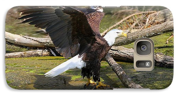 Galaxy Case featuring the photograph Soaring Eagle by Elizabeth Winter