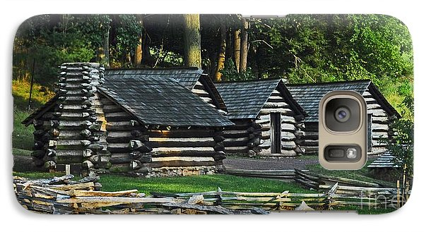 Galaxy Case featuring the photograph Soldiers Quarters At Valley Forge by Cindy Manero