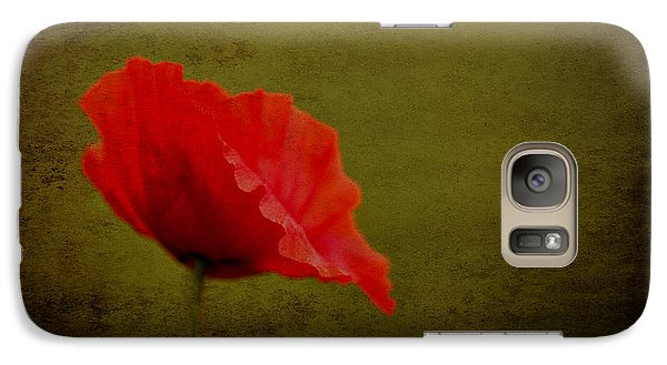 Solitary Poppy. Galaxy S7 Case by Clare Bambers