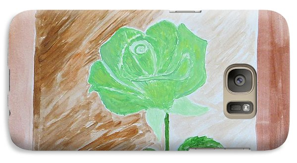 Galaxy Case featuring the painting Solitary Rose by Sonali Gangane