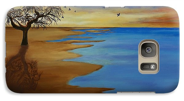Galaxy Case featuring the painting Solitude by Michelle Joseph-Long
