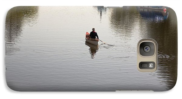 Galaxy Case featuring the photograph Solo Rowing by Maj Seda