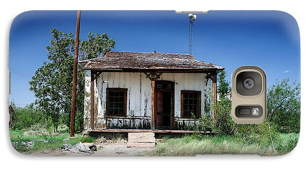 Galaxy Case featuring the photograph Somewhere On The Old Pecos Highway Number 3 by Lon Casler Bixby