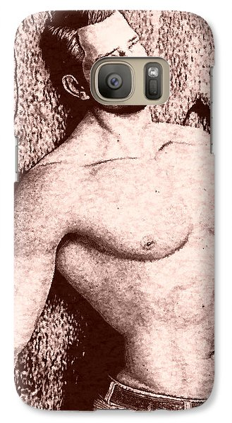 Galaxy Case featuring the digital art Sorrowful Sketch by Maynard Ellis